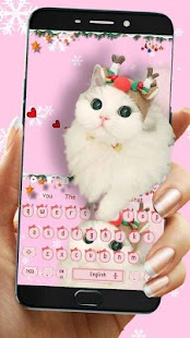 Pink Cute Kitty Ragdoll Cat Keyboard - náhled