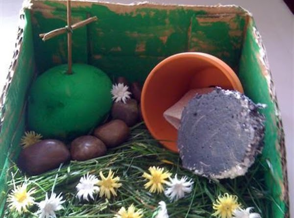 A very adorable Easter Garden made by a child