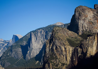 Photo: Half Dome and Bridalveil Falls + Cathedral Rocks at Tunnel View. #2643    Sentinel Dome peeking above alongside Cathedral Rocks
