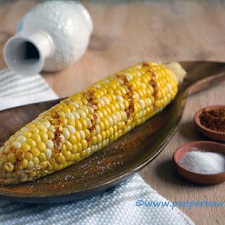 Lemon drizzled Sweet Corn Cob.