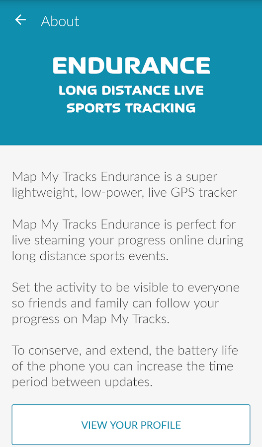 Map My Tracks Endurance- screenshot