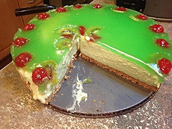 No Bake Kiwi-lime Glazed Cheesecake Recipe