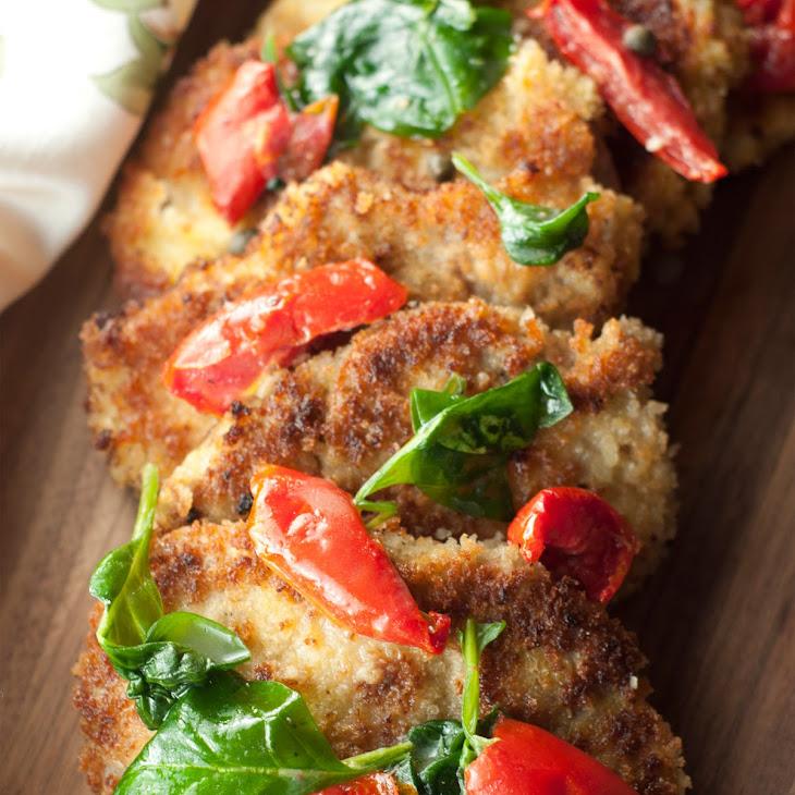 Italian Pork Cutlet Florentine