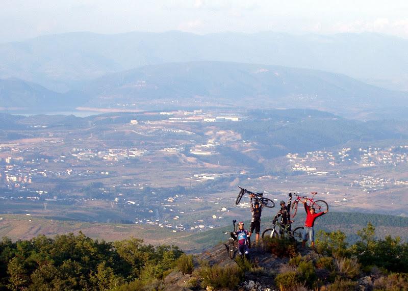 Ponferrada vista desde la montaña