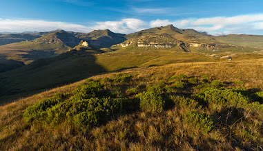 """Photo: """"The Golden Gate Highlands"""" Golden Gate Highlands National Park, Eastern Free State, South Africa  We are off to the Drakensberg for the rest of the week for a bit of family time and hopefully some landscape photography if the weather plays along, so expect little else from me here on G+ during the week ahead (I might upload something later when I am out photographing to show you the view!).  This was taken last year during a trip to another region of the Drakensberg mountain range, the Maluti mountains, situated in the Golden Gate Highlands National Park, South Africa (http://www.sanparks.org/parks/golden_gate). It's a submission to #mountainmonday by +Michael Russell, as well as #naturemonday by +Rolf Hicker.  Enjoy the rest of the week here on Google+, everyone! Keep posting the wonderful images I've come to expect...  #landscapephotography  #PassionforAfrica   www.morkelerasmus.com www.saffascapes.blogspot.com"""