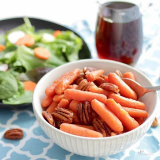 Maple Glazed Carrots with Pecans.