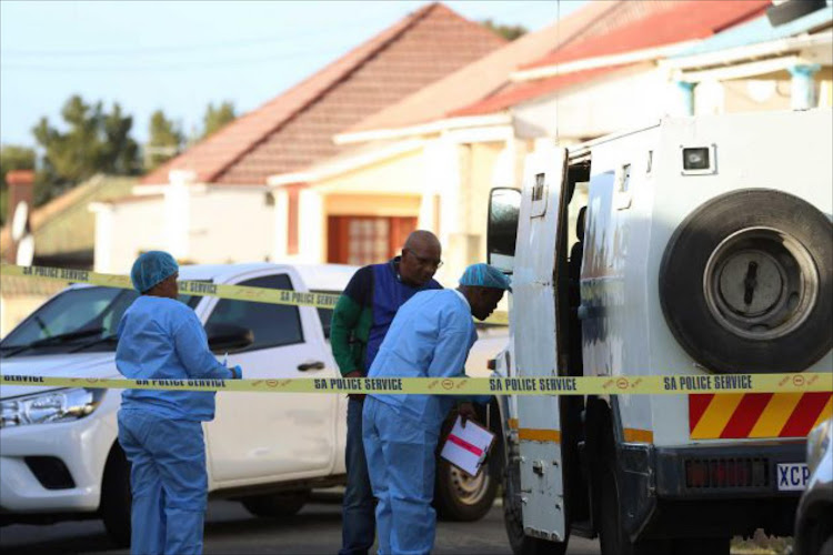 A File picture of a cash-in-transit heist in Southernwood, East London
