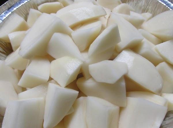 Peel wash & quarter potatoes