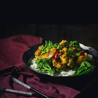 General Tso's (Japanese) Chicken with a Miso and Sake sauce.