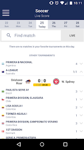 Mobile Livescore screenshot