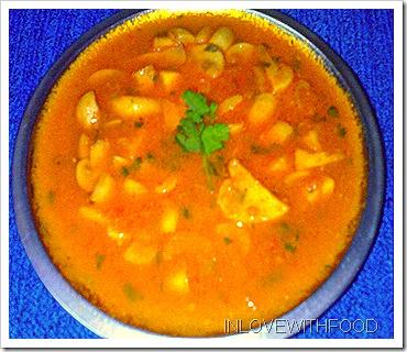 mushroom malai curry