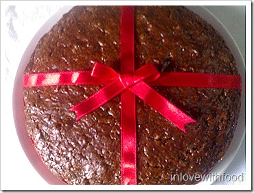 quick cocoa fruit cake
