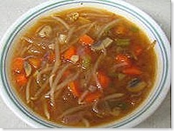Homecooked Veg hot and sour soup