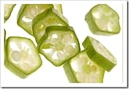 okra slices
