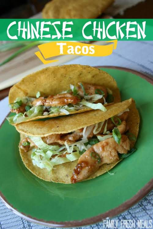 "Chinese Chicken Tacos ""I've been making these for a few months, and..."