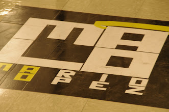Photo: Even the floors had MaLo signage. Pretty cool.