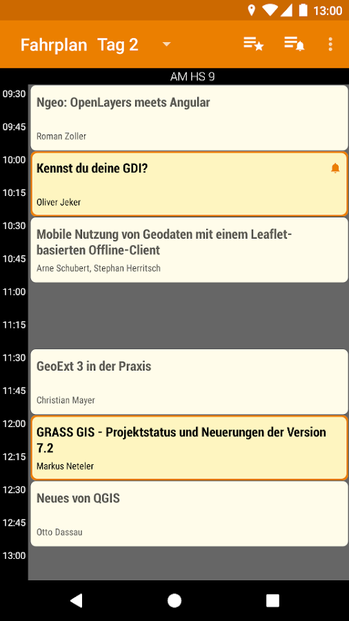 FOSSGIS 2017 Programm- screenshot