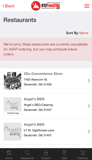912 Food 2 Go- screenshot