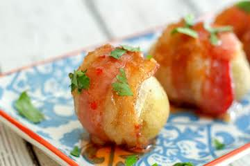 Sweet and Spicy Bacon Wrapped Potato Bites