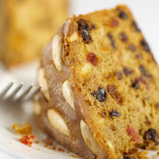 Whole Almond Topped Fruit Cake.