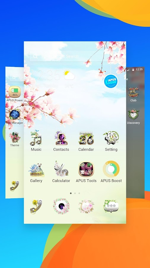 Gorgeous Flower Garden- APUS Launcher theme- screenshot