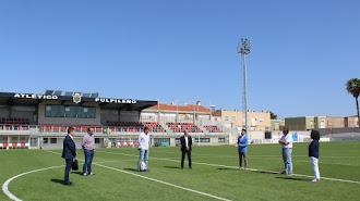 Visita del Director General de Deportes de la Región de Murcia, Fran Sánchez.