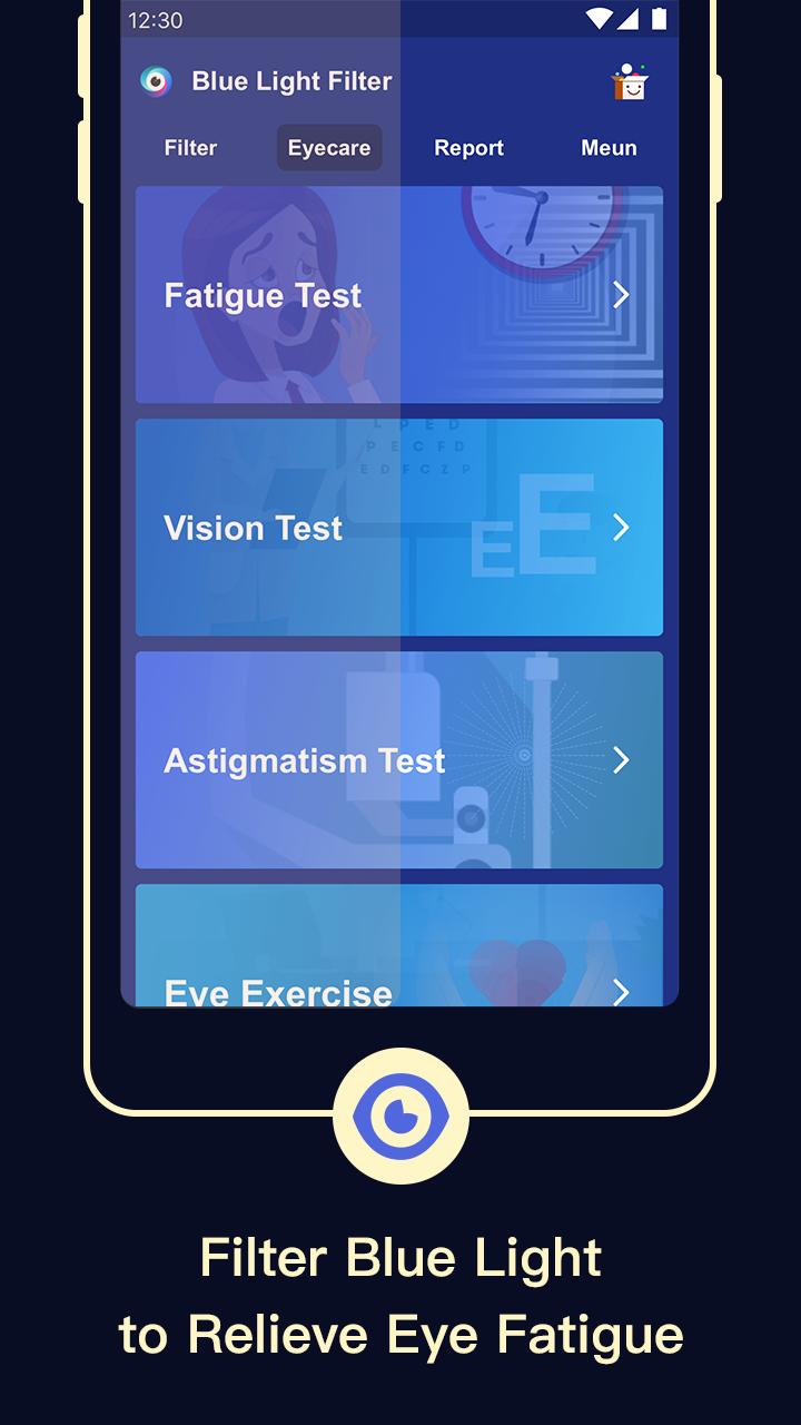 Blue Light Filter – Screen Dimmer for Eye Care Screenshot 0