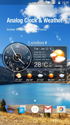 weather and clock widget screenshot 1