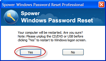 click yes to reboot your laptop]