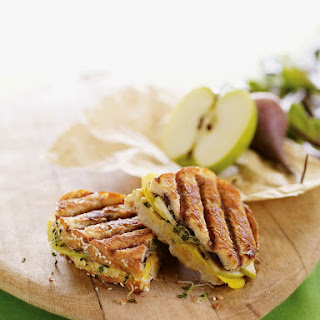 Chickpea, Beet, and Apple Panini