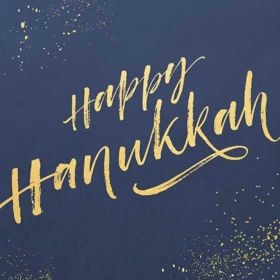 Golden Happy Hanukkah - Hanukkah Template
