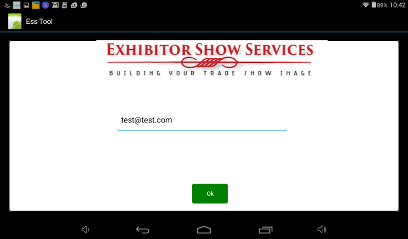 android Exhibitor Show Services Tool Screenshot 1