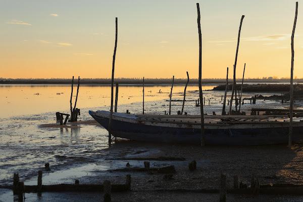 Bassa marea in laguna di Cho