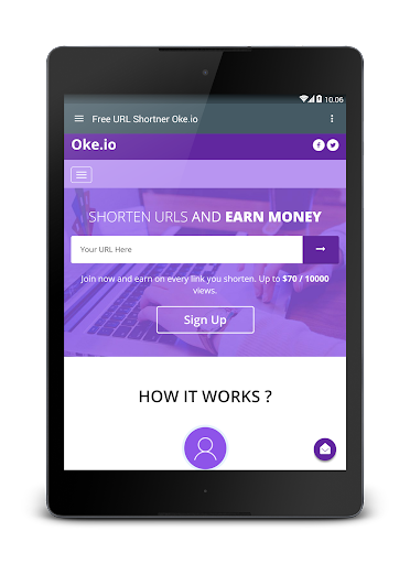 Oke.io - Shorten Urls and Earn Money! 1.0 screenshots 9