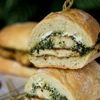 Goat Cheese Pesto Chicken Sandwich