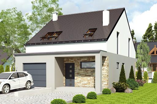 projekt Mazurek z garażem 1-st. A