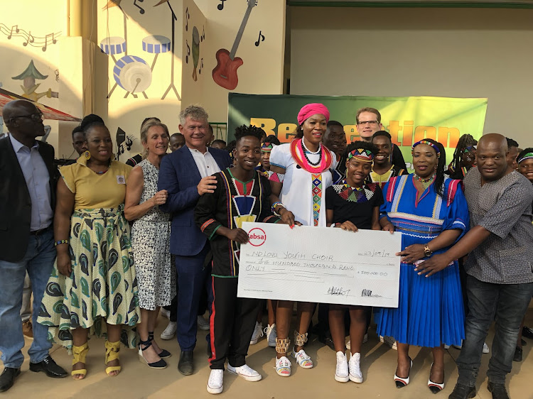 The Ndlovu Youth Choir received a R1m cheque from the Limpopo arts and culture department on Monday.