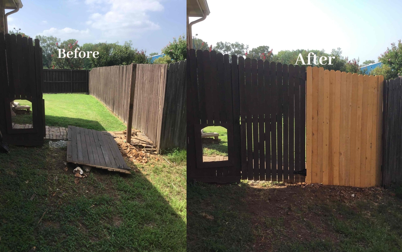 Handyman Aubrey fence installation and repair.