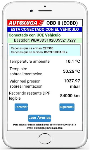 Scanner PREMIUM cars OBD:data and DTC engine ELM App Report