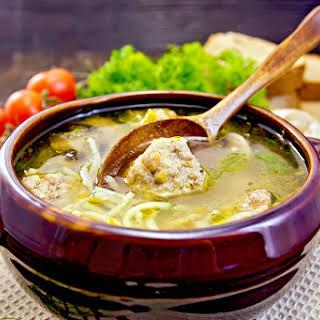 Vegetable Meatball Soup.