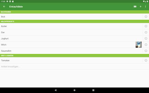 Our Groceries Shopping List Screenshot