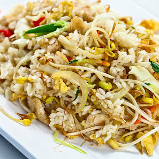 Easy Chicken and Rice Skillet Stir-Fry.