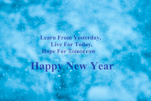 new year quotes on blue background by vrinda mahesh typography quotes sentences new