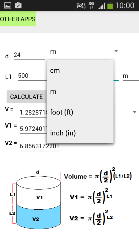 Tube Volume Calculator- screenshot