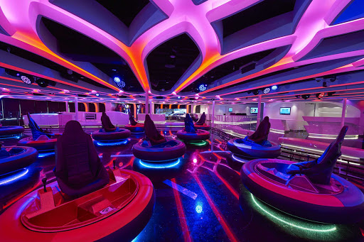 Families will enjoy bumper cars and other amusements on Norwegian Joy.