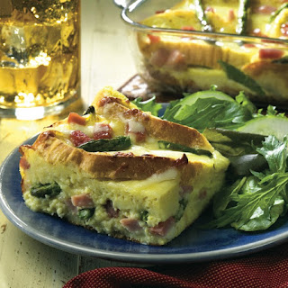 Entertain Easily with a Ham and Asparagus Strata