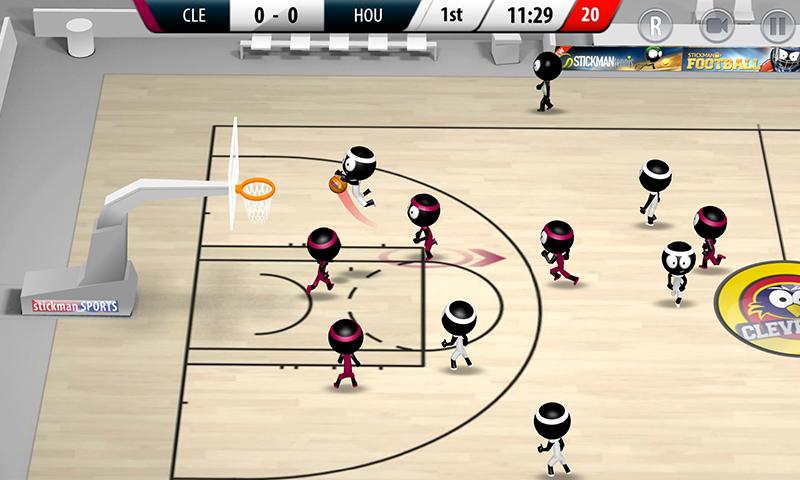 Stickman Basketball 2017 screenshot #1