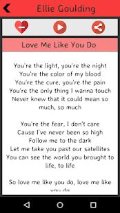 Ellie Goulding Lyrics screenshot