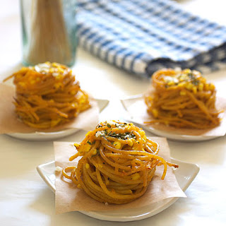 Three Cheese Spaghetti Nests