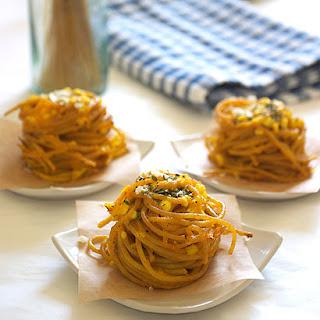 Three Cheese Spaghetti Nests.